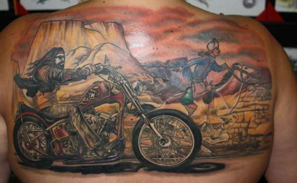 David Mann's Ghostrider tattoo