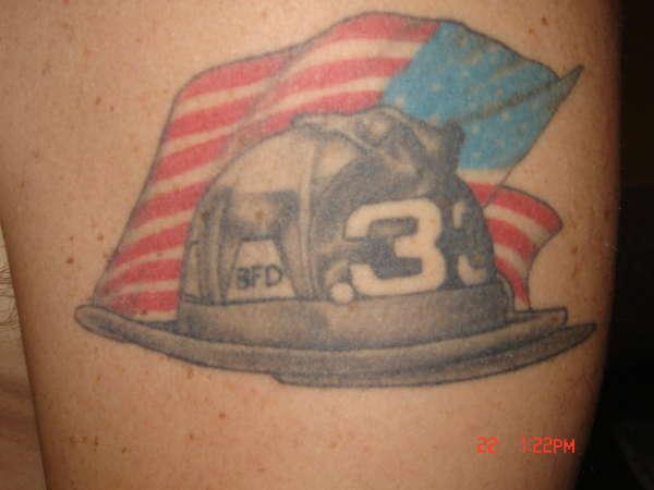 firefighter helmet tattoo. Black Bedroom Furniture Sets. Home Design Ideas