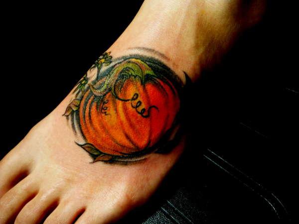 ~Tattoo by Boston~ Pumpkin tattoo