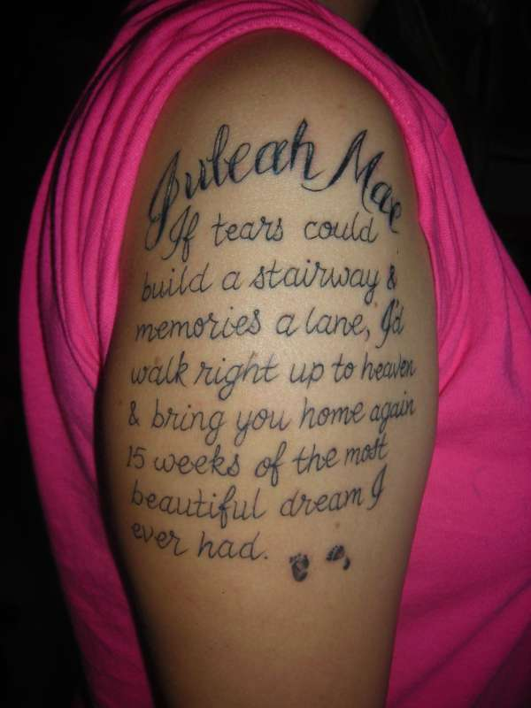 in memory of my baby girl tattoo