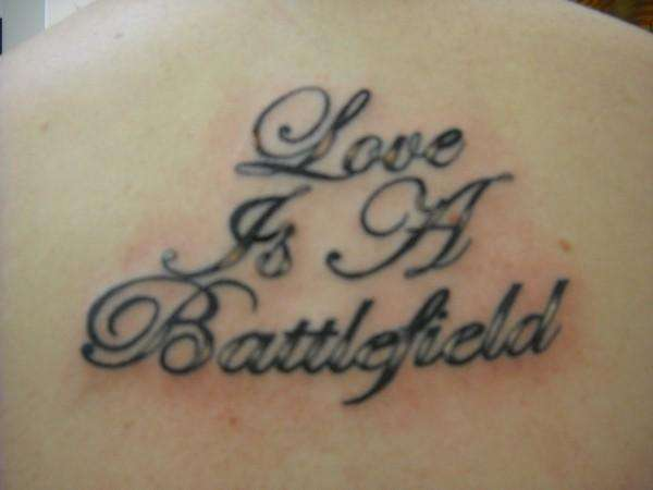 love is a battlefield tattoo