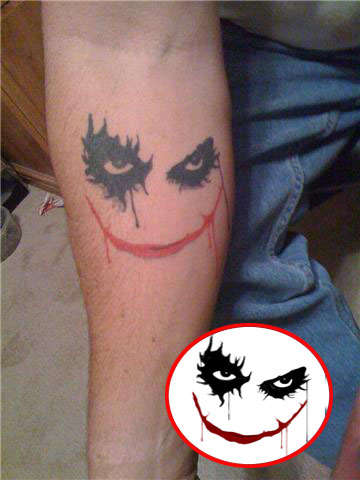 Simple Joker Tattoo