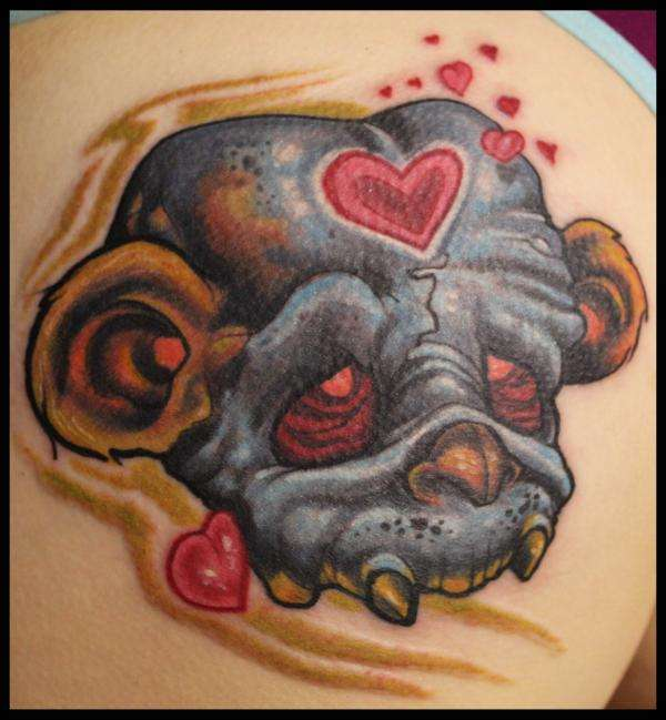 teddy bear monkey skull tattoo. Black Bedroom Furniture Sets. Home Design Ideas