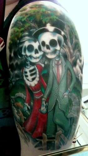 Bride and Groom Skeleton tattoo