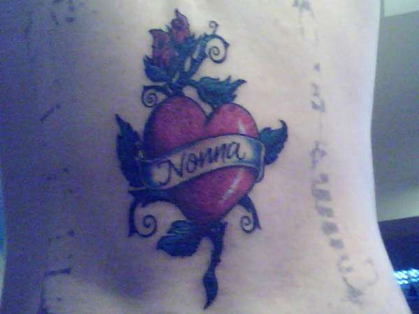 Heart Nonna tattoo