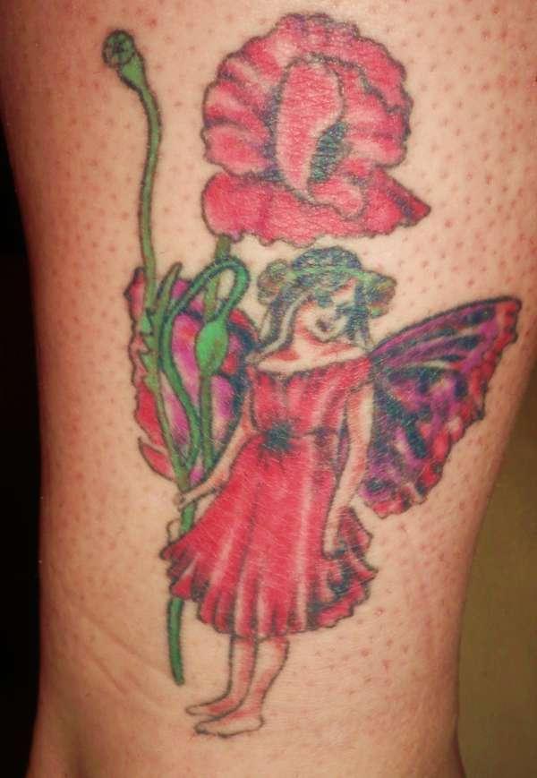 The poppy fairy tattoo for Skull fairy tattoos