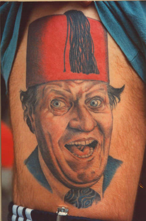 Tommy Cooper tattoo