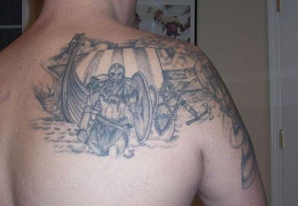 Viking Landing tattoo