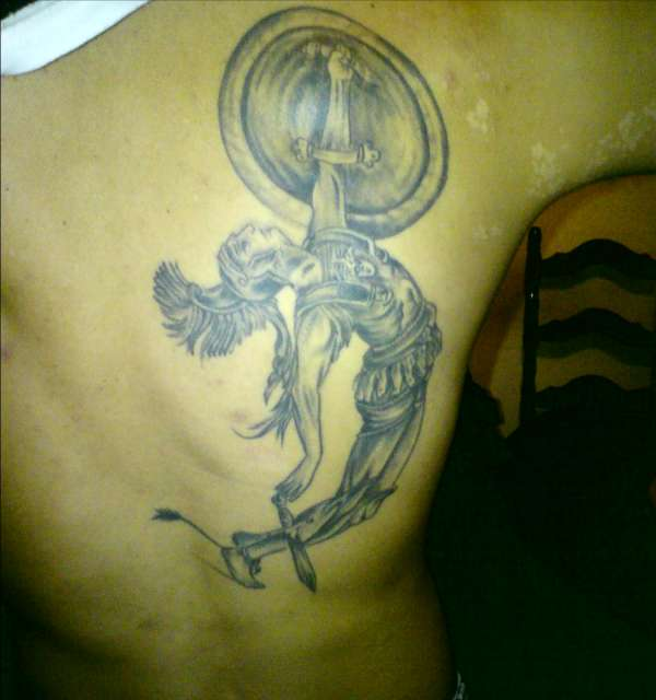 achilleas greek warrior tattoo