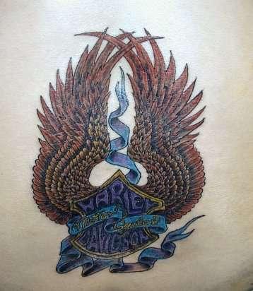 Harley Flash tattoo