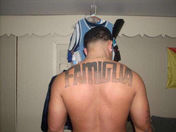 FAMIGLIA ON MY BACK tattoo