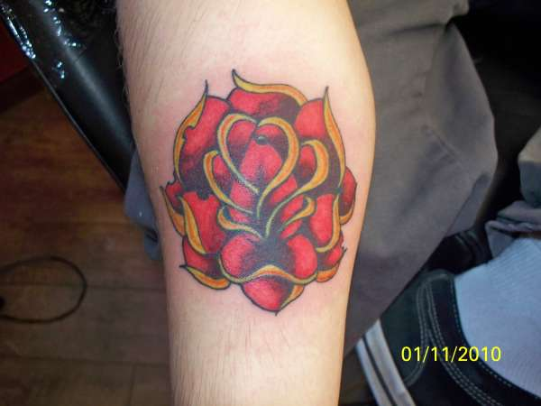 Jareds Rose tattoo