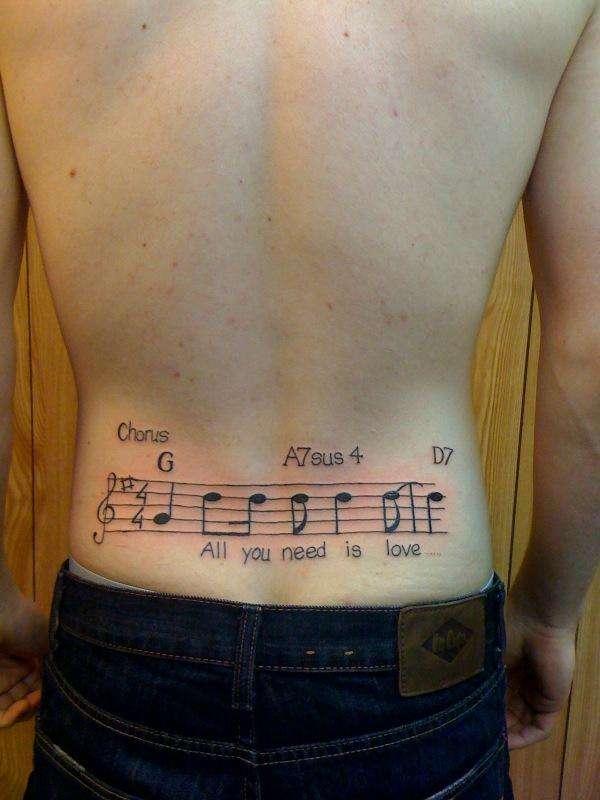 67d2244d4 The Beatles - Sheet Music tattoo