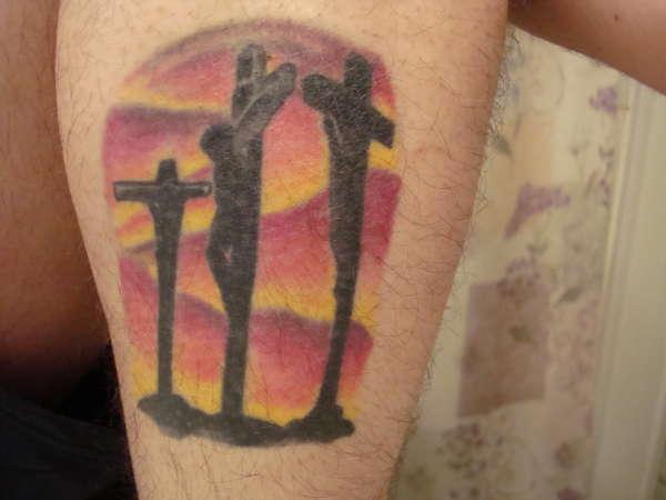 crucifix tattoo