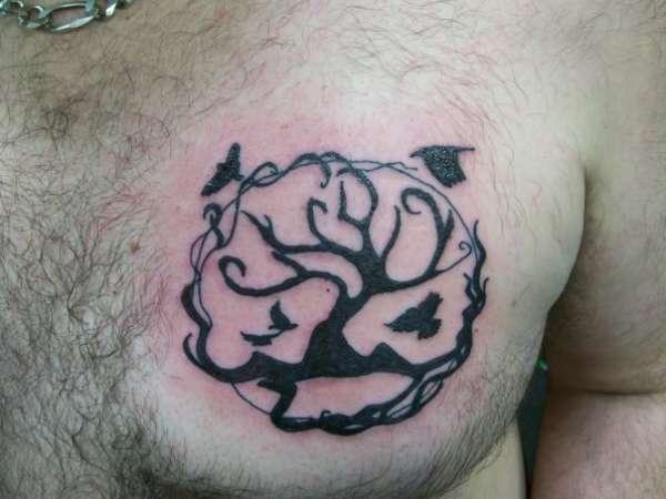 dead tree of life tattoo