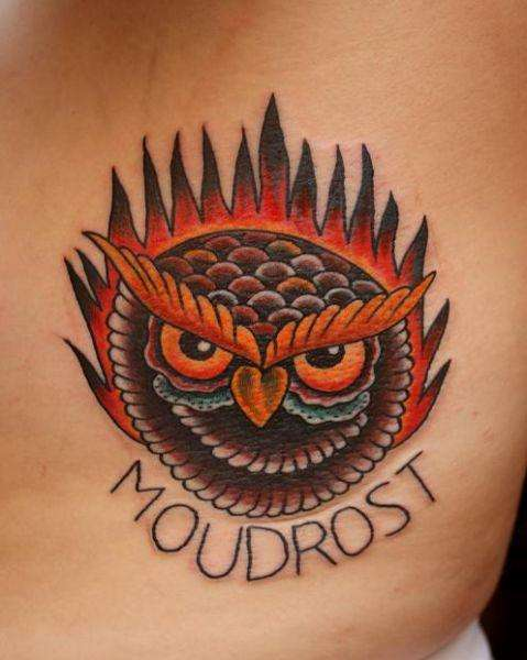 Frederick the Owl tattoo