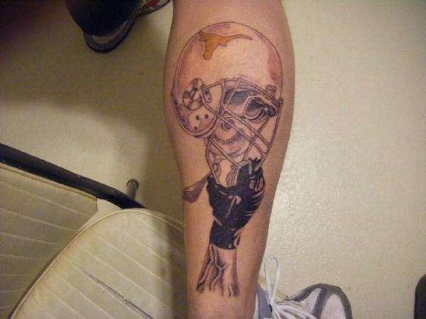 Texas longhorn super fan tattoo for Texas longhorn tattoo