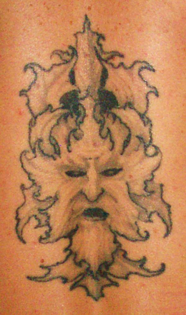 green man tattoo