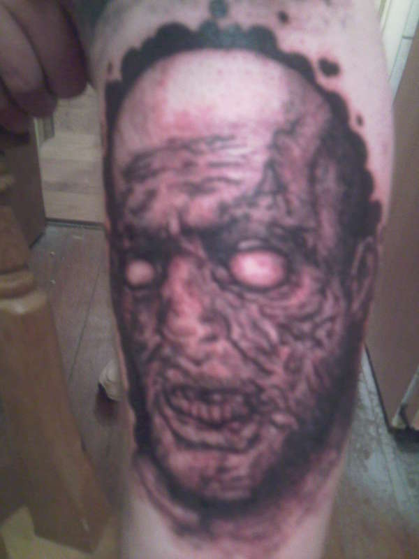 horror face tattoo