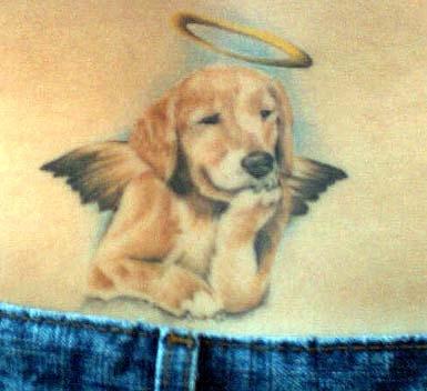 Doggy Angel Tattoo