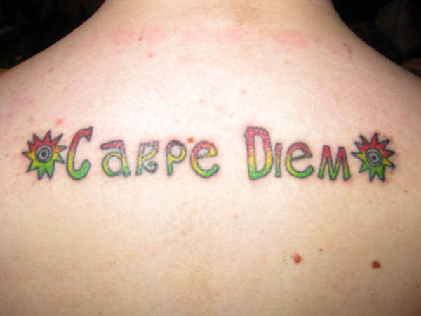 Carpe Diem Rasta Colors tattoo