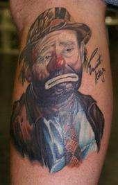Emmett Kelly tattoo