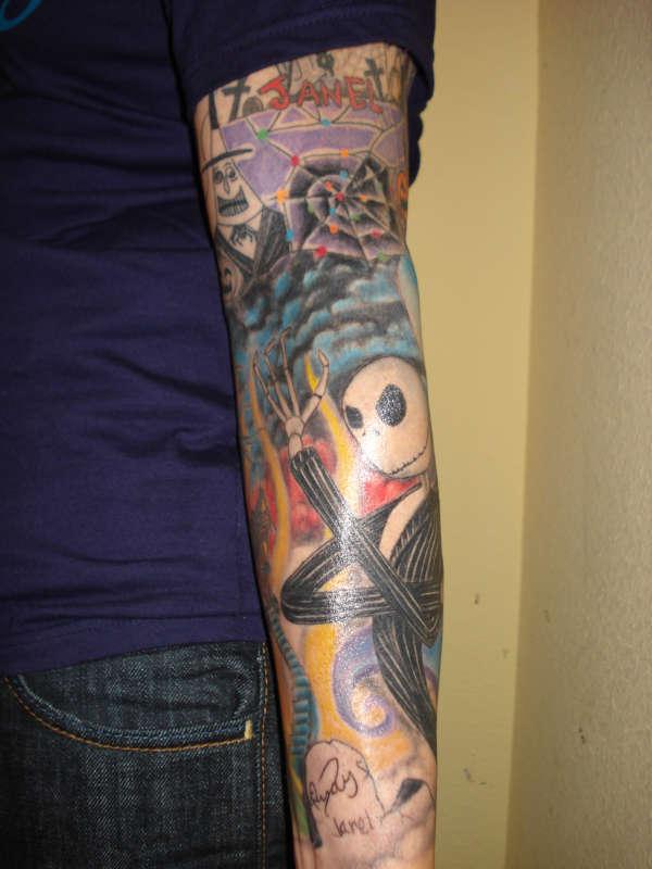 Nightmare before christmas sleeve bad tattooist alpha omega