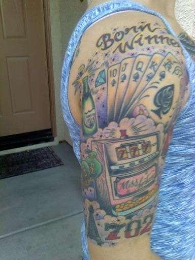 Las Vegas half sleeve tattoo