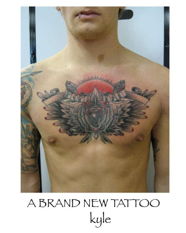 Mom Dad Chest Tattoo