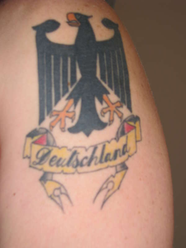 german eagle crest tattoo