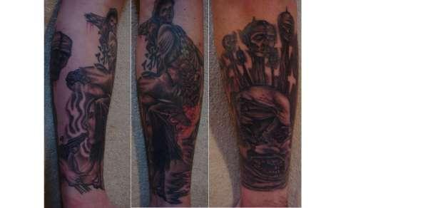 Death Half Sleeve tattoo