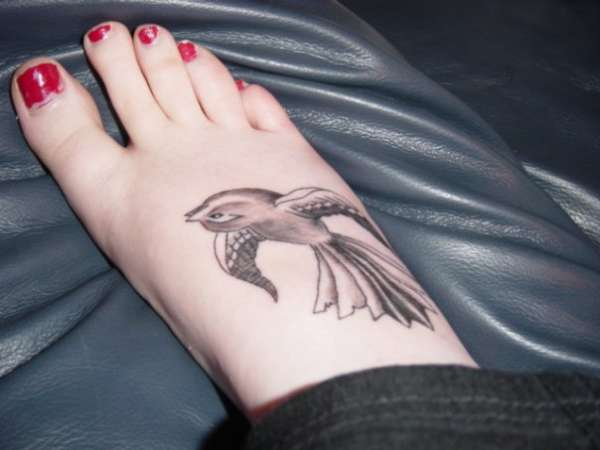 Fantail on Foot tattoo