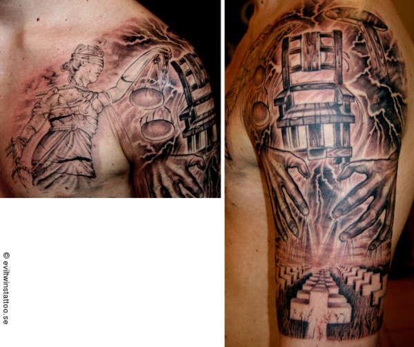 Metallica tattoo for Metallica sleeve tattoo