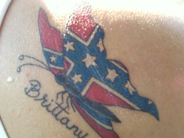 Rebel flag butterfly tattoos