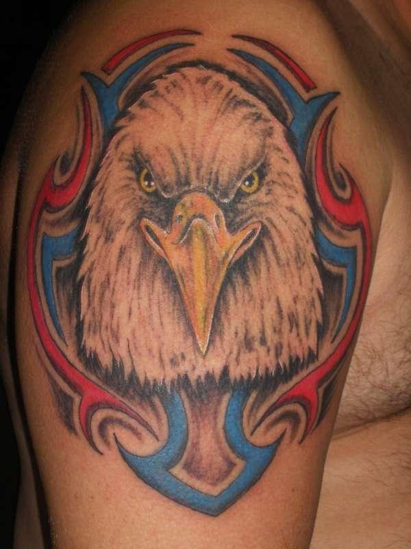 bald eagle portrait tattoo