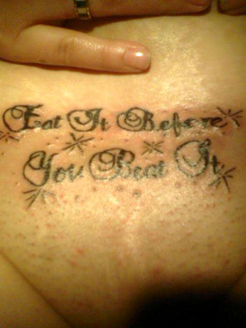 Eat It Before You Beat It tattoo