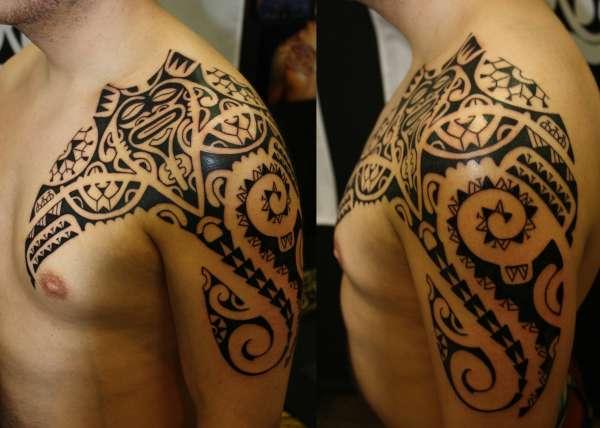 Maori-ray tattoo