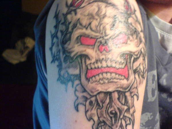 Skull 'n Roses tattoo