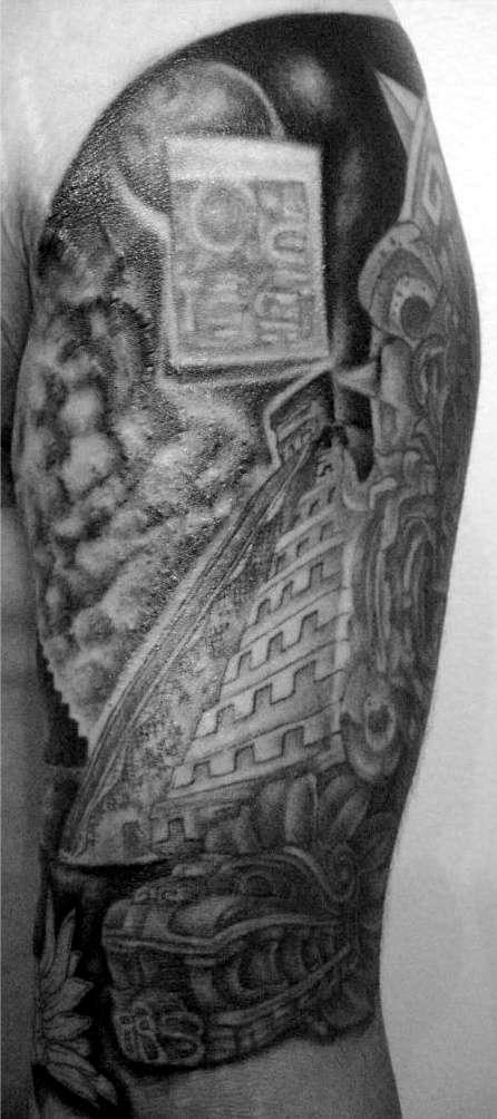 aztec pyramid along with tha dark energy tattoo
