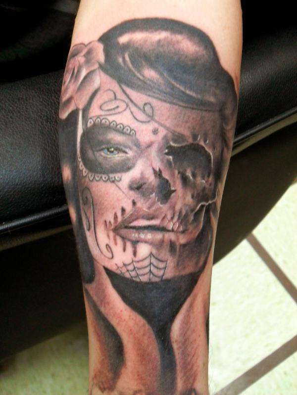 day of the dead chick tattoo