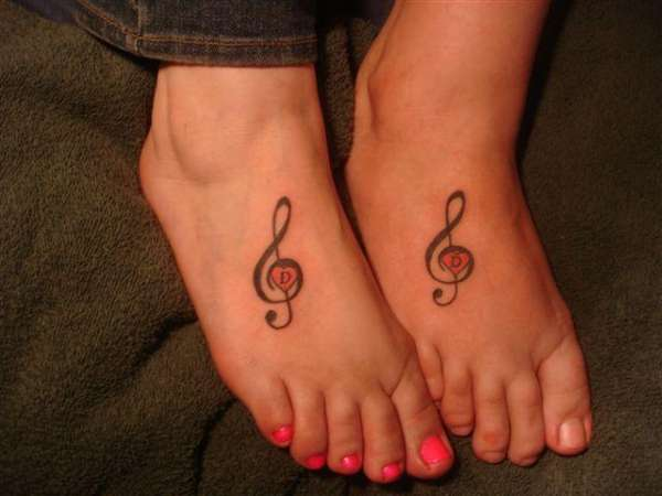 treble clef tatts tattoo