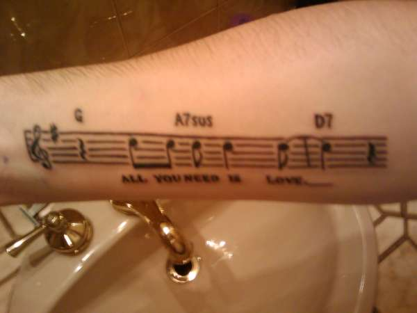 All You Need Is Love Tattoo tattoo