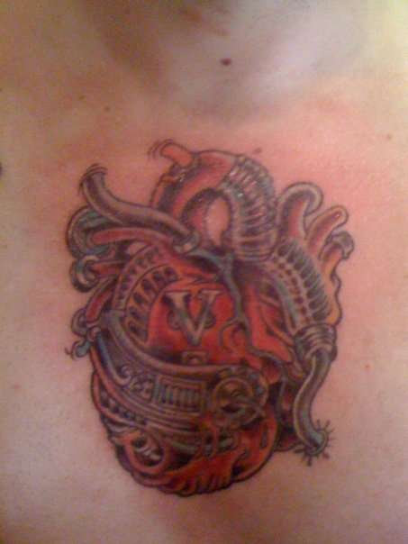 Biomechanical Heart tattoo