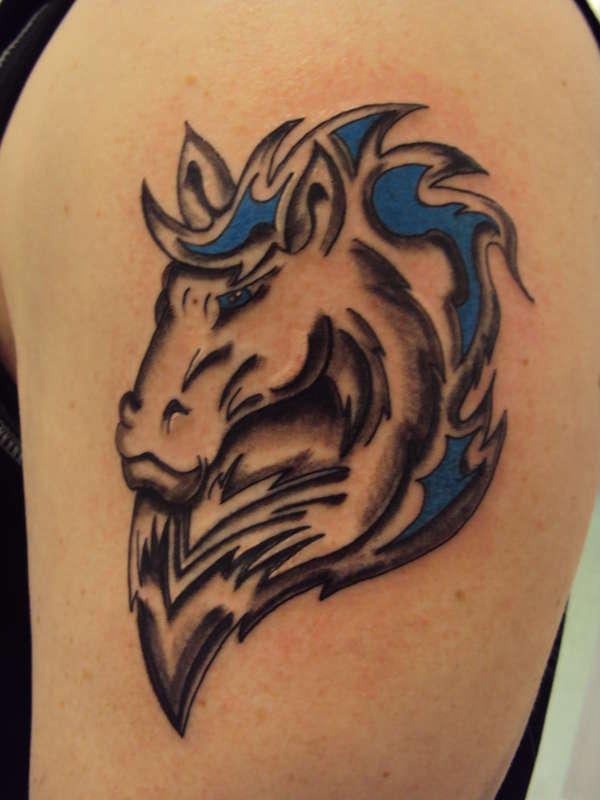 Horse Tribal Symbol tattoo