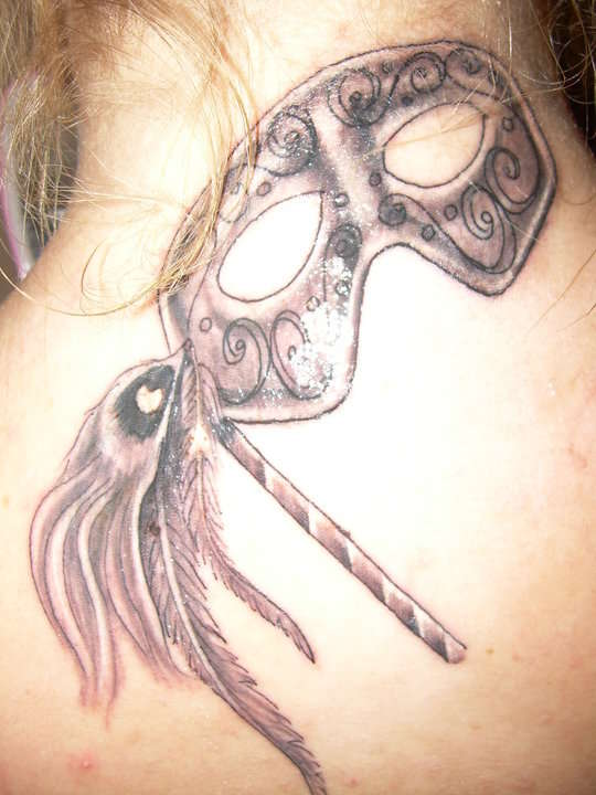 My Masquerade mask tattoo
