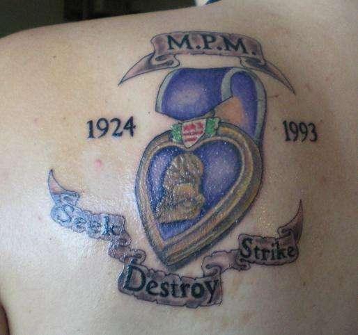 bdf6d71c813af My grandfathers WWII purple heart tattoo