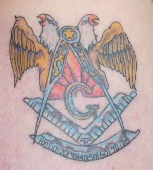Masonic Past Master tattoo