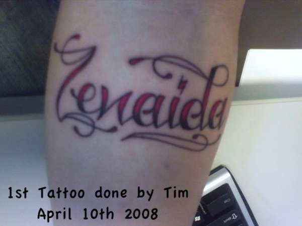 My mother 39 s name tattoo for Tattoo shops in annapolis