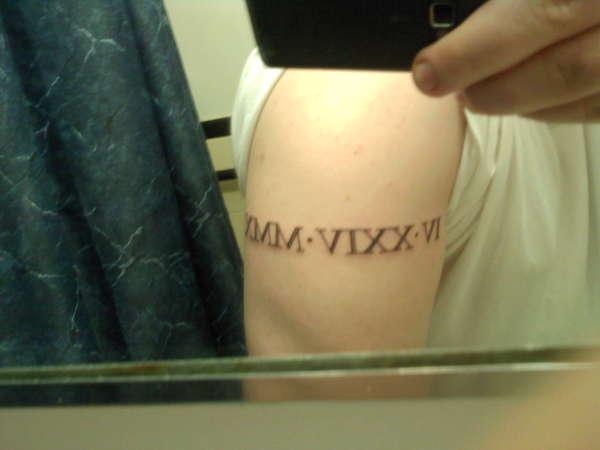 Roman Numeral Tattoo tattoo