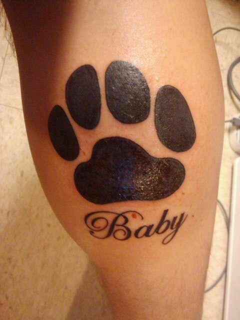 Tattoo For my Dog Baby who died Labor Day 2009 tattoo